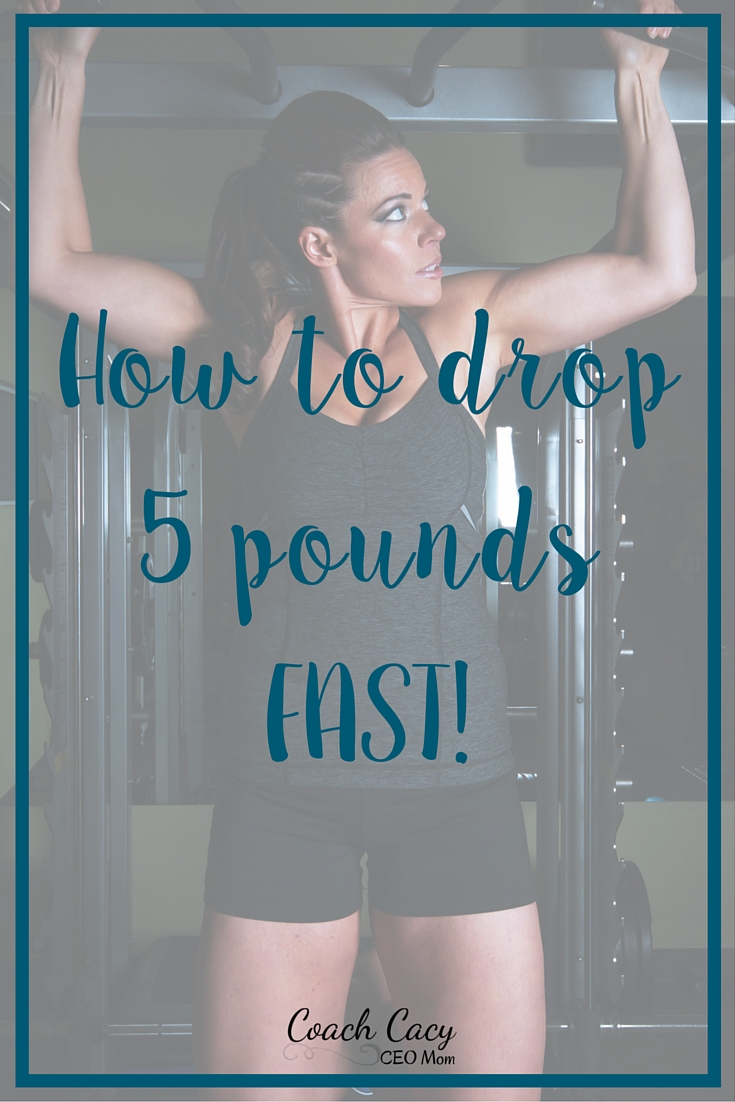 Learn tips from Coach Cacy on losing 5lbs fast.